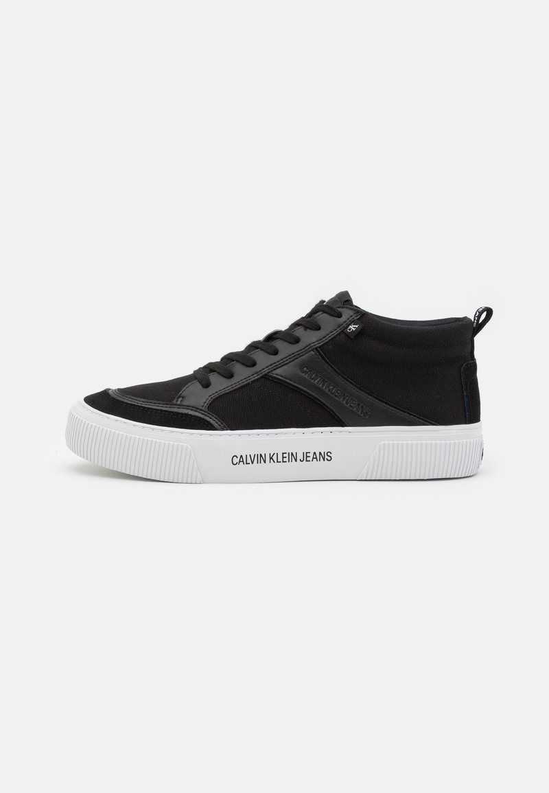 Calvin Klein Jeans - SKATE MID LACEUP MIX - High-top trainers - black