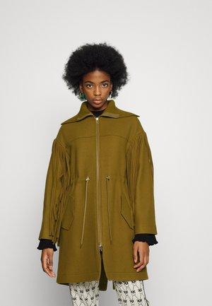 PROGETTARE PANNO BATTUTO - Classic coat - khaki