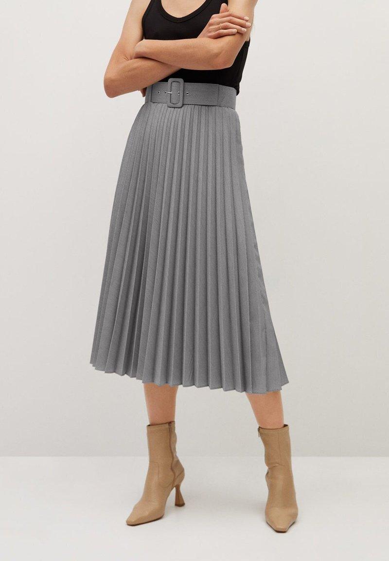 Mango - LADY - A-line skirt - grau
