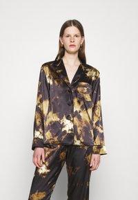 Alexa Chung - PYJAMA - Haut de pyjama - black/brown - 0