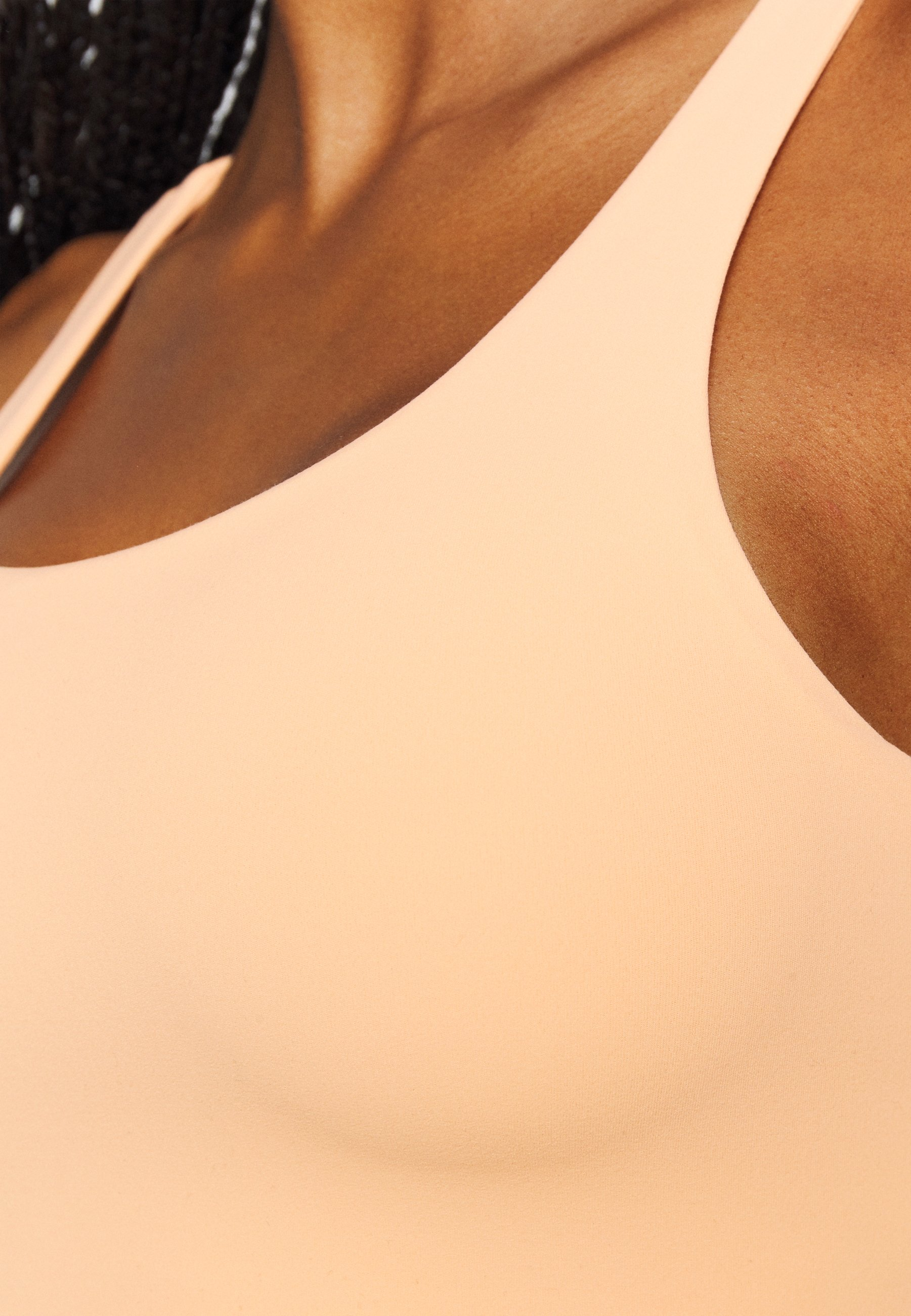 Nike Performance YOGA LUXE CROP TANK - Sports shirt - orange chalk/gelati vrfO4