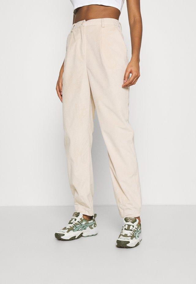 NARROW HEM TROUSERS - Spodnie materiałowe - light pink
