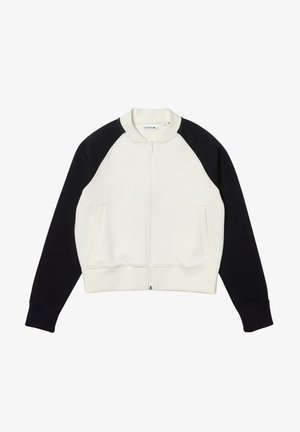 Zip-up sweatshirt - blanc/bleu marine