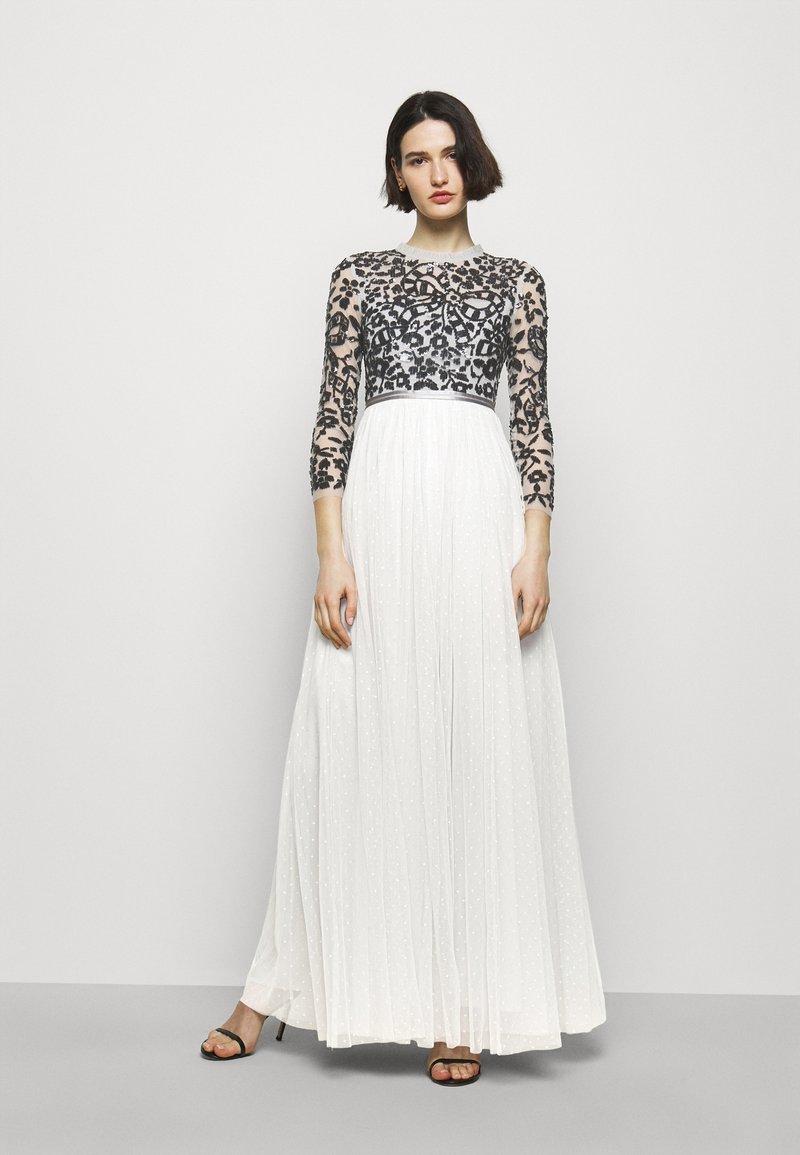 Needle & Thread - SEQUIN RIBBON LONG SLEEVE BODICE DRESS - Suknia balowa - crystal blue