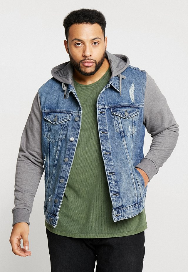 ONSCOIN HOOD TRUCKER - Denim jacket - blue denim