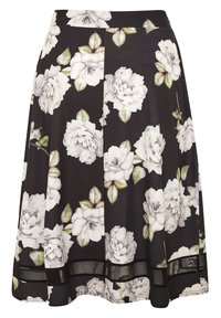 Yours Clothing - LONDON - A-line skirt - black - 4
