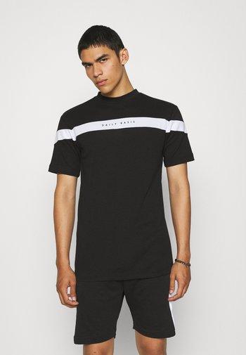 BLOCK PANEL SET UNISEX - Print T-shirt - black