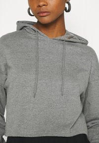 Even&Odd - BASIC - Cropped Hoodie - Hoodie - mottled grey - 5