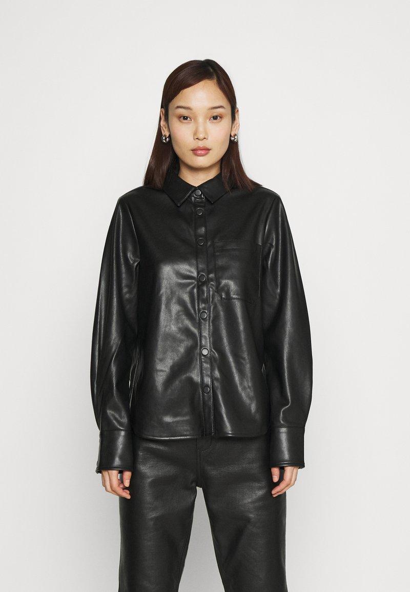 NA-KD - Button-down blouse - black
