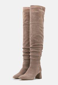Zign - Overknee laarzen - beige - 2
