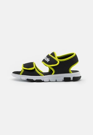 WAVE GLIDER III UNISEX - Pool slides - black/yellow flare/white
