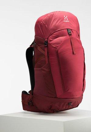 STRÖVA 55 - Hiking rucksack - brick red/light maroon red m-l