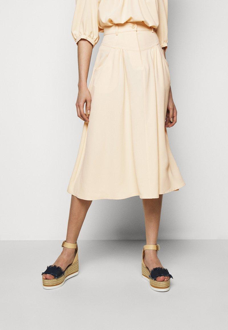 See by Chloé - A-line skirt - macadamia brown