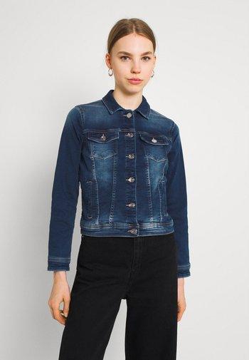 ONLTIA LIFE JACKET - Jeansjakke - dark blue denim