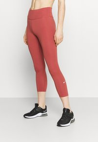 Nike Performance - ONE CROP 2.0 - Leggings - canyon rust/white - 0