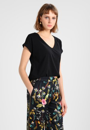VIDREAMERS V-NECK - Basic T-shirt - black