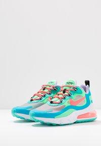 Nike Sportswear - AIR MAX 270 REACT - Trainers - electro green/flash crimson/blue lagoon/hyper jade/lavender mist/sunset pulse - 6