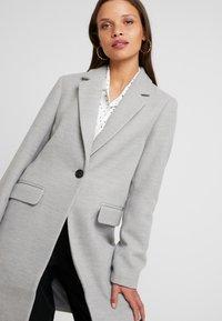 Even&Odd Petite - Classic coat - mottled light grey - 4