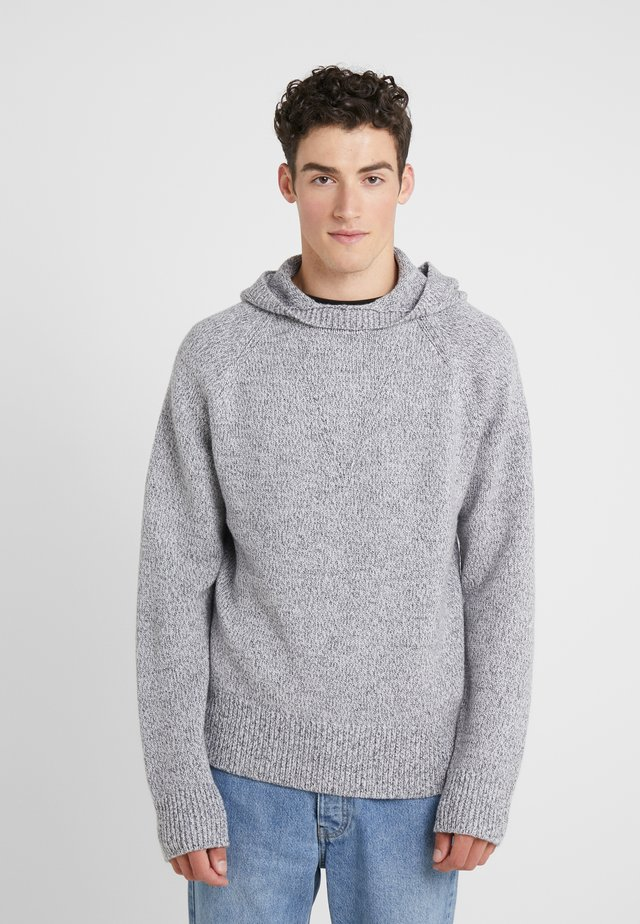 HOODY - Strickpullover - grey chine
