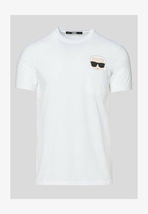IKONIK POCKET  - Print T-shirt - white