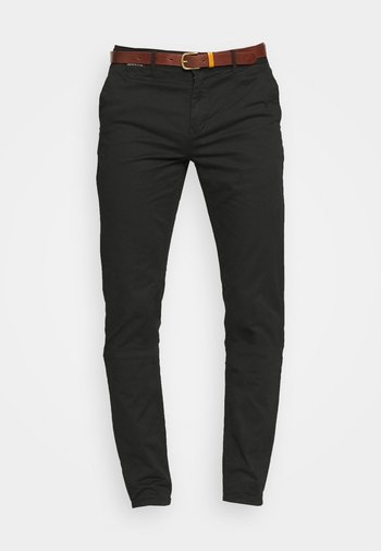 NEW BELTED  - Chino - black