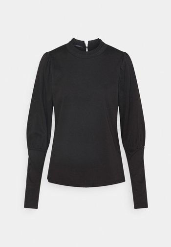 TEE WITH SPECIAL LONG SLEEVES - Long sleeved top - black