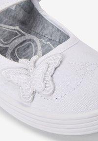 Next - Ankle strap ballet pumps - white - 2