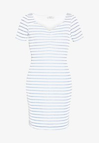 Guess - ENRIQUETA DRESS - Sukienka etui - white/ocean lure - 4
