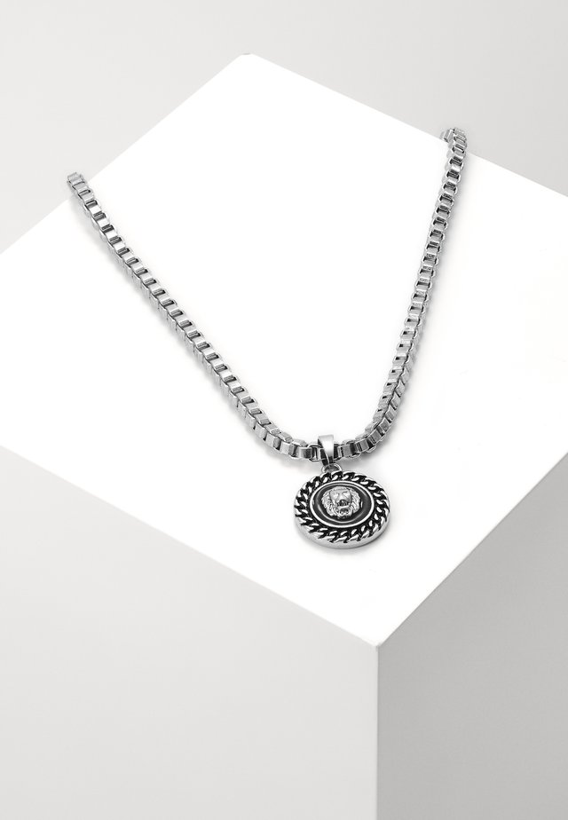 CHAIN AND LION HEAD NECKLACE - Ketting - silver-coloured