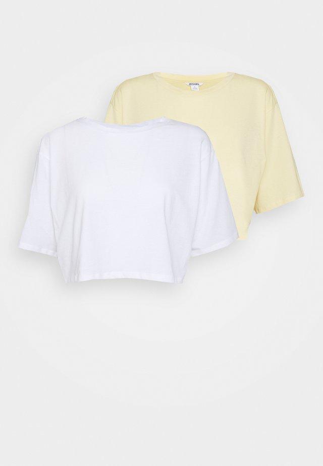2 PACK - Jednoduché triko - white light/yellow light