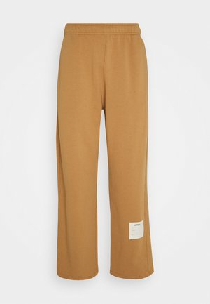 GARMENT DYED WIDE LEG JOGGERS - Tracksuit bottoms - tan