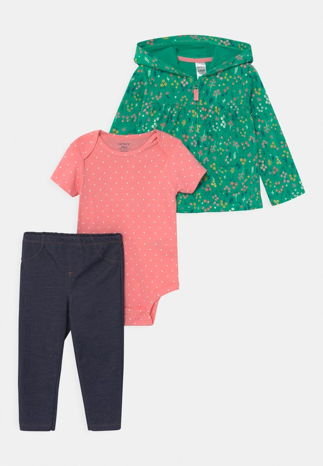 FLORAL SET - T-shirt con stampa - green