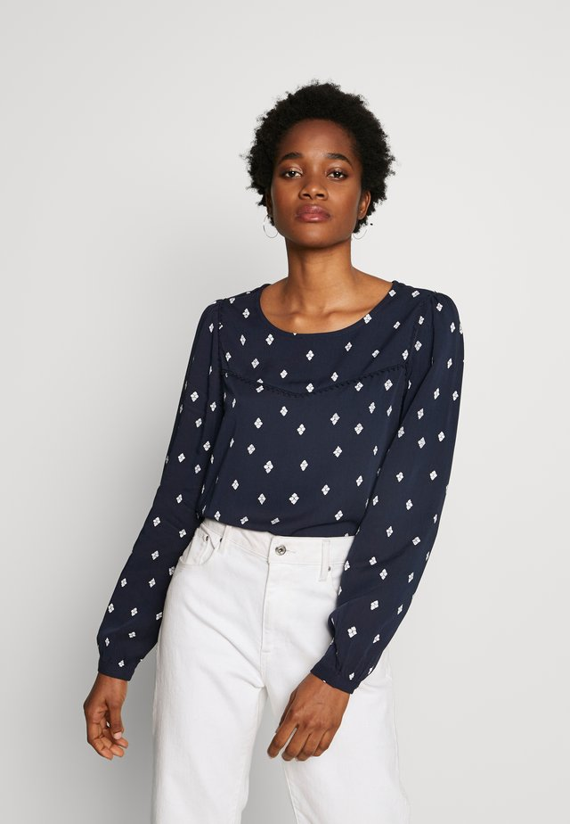 VISUVITA - Blouse - navy blazer/white
