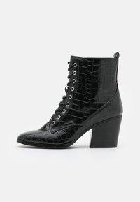 Glamorous Wide Fit - Šněrovací kotníkové boty - black - 1