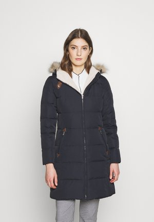 HAND TRIM  - Down coat - dark navy