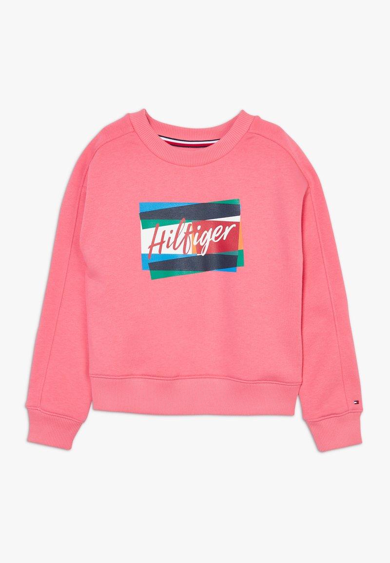 Tommy Hilfiger - FUN FLAG CREW  - Sweatshirt - pink
