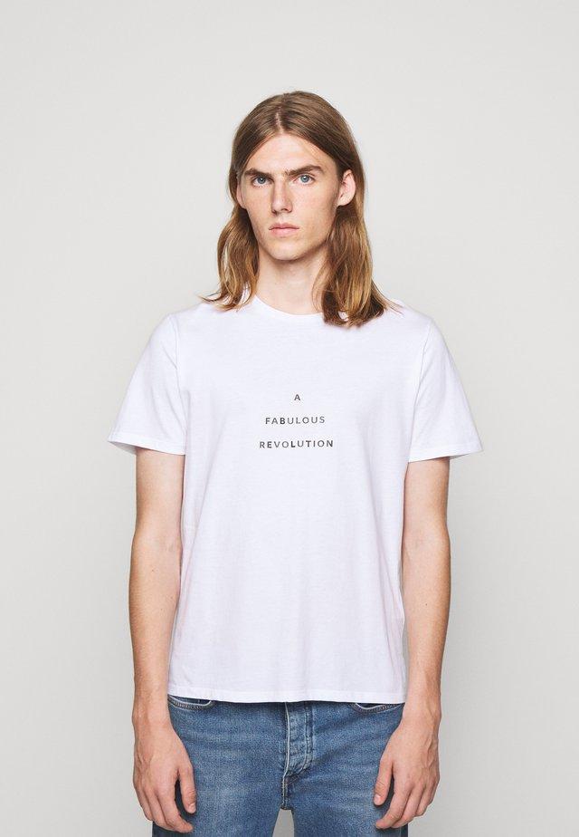 UNISEX MENTA - T-shirt med print - white