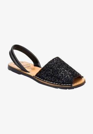 ESTILO AVARCA O MENORQUINA - Sandalias - black  glitter
