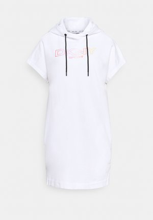 OMBRE LOGO SNEAKER DRESS - Day dress - white