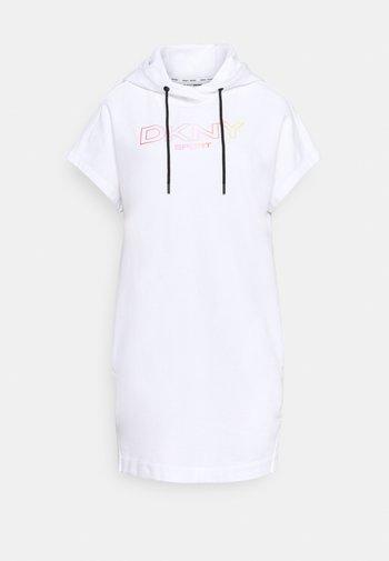OMBRE LOGO SNEAKER DRESS - Day dress - white