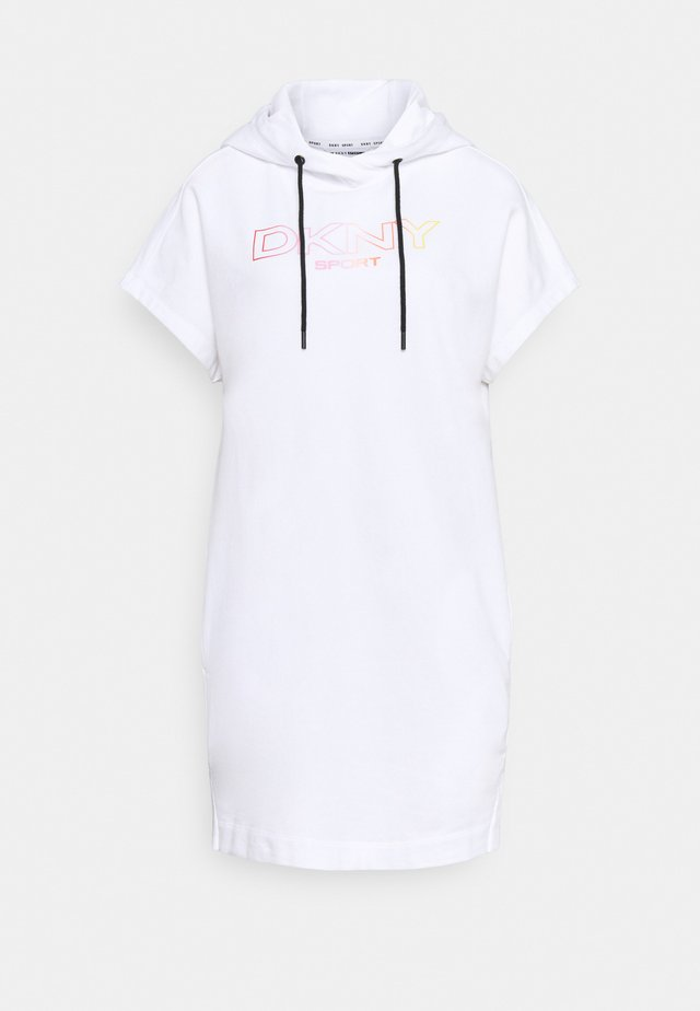 OMBRE LOGO SNEAKER DRESS - Korte jurk - white