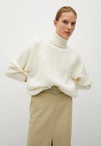 Mango - PENCIL - A-line skirt - beige - 4