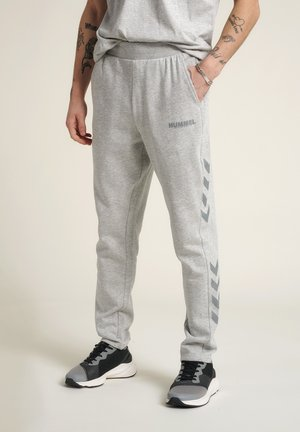 LEGACY PANTS - Tracksuit bottoms - grey melange