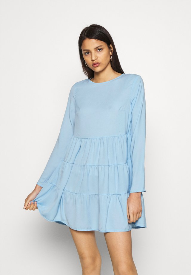 TIERED SMOCK DRESS - Vestido informal - powder blue