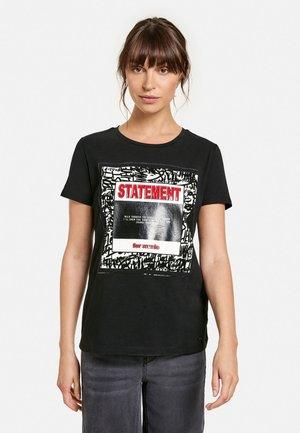 RUNDHALS  - T-shirt print - black gemustert