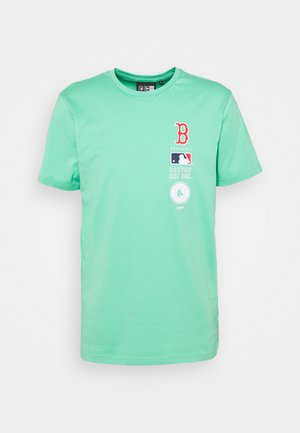 BOSTON RED SOX MLB STACK LOGO TEE - Club wear - mottled teal