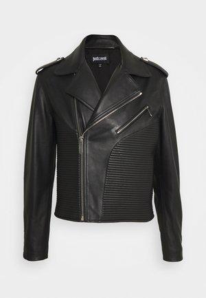 KABAN - Kožená bunda - black