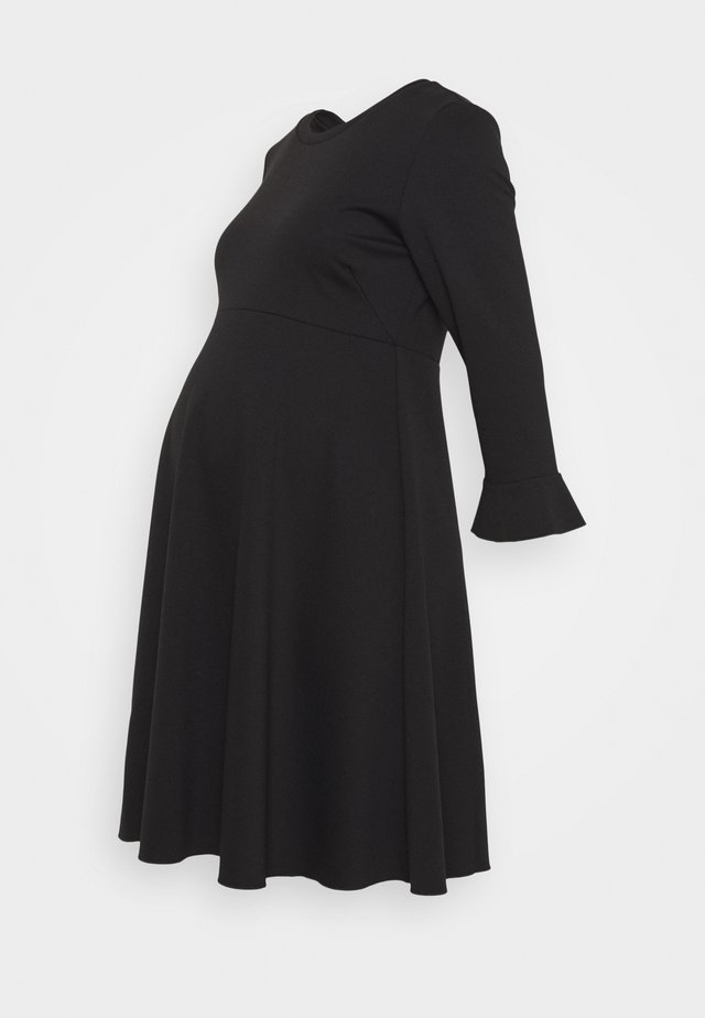 VOLANT MANICA - Jersey dress - black