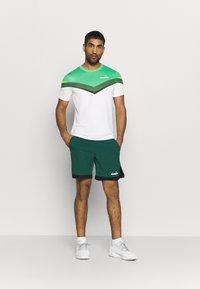 Diadora - CLAY - Camiseta estampada - holly green/white/bistro green - 1