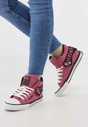 Sneakers hoog - hard pink/black
